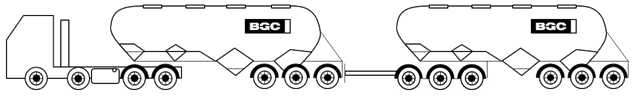 Cement Tanker - Road Train